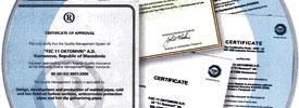Сертификати и одобренија
